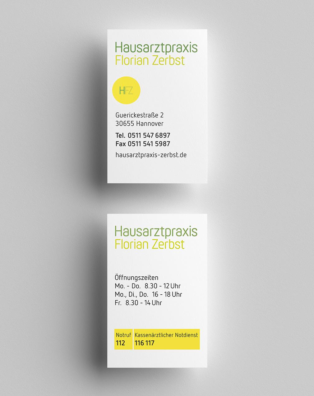 Corporate Design Arztpraxis, Visitenkarten, Branding, Logo Design