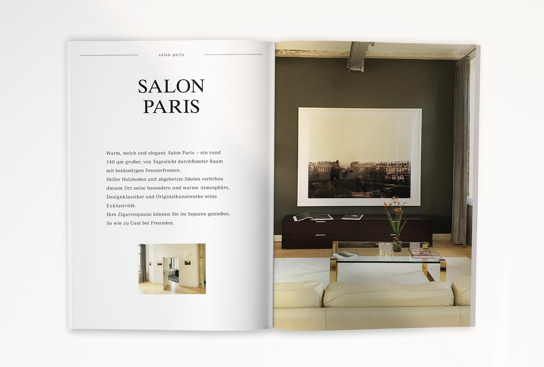 Helmkehof, Corporate Design, Branding, Salon Paris