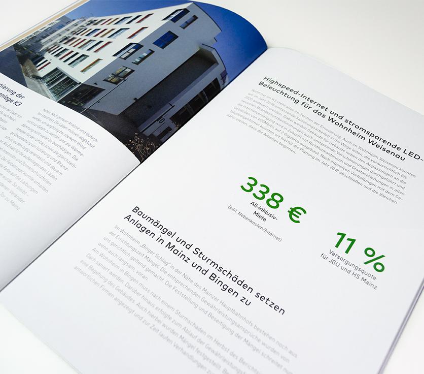 Geschäftsbericht, Finanzbericht, Infografik